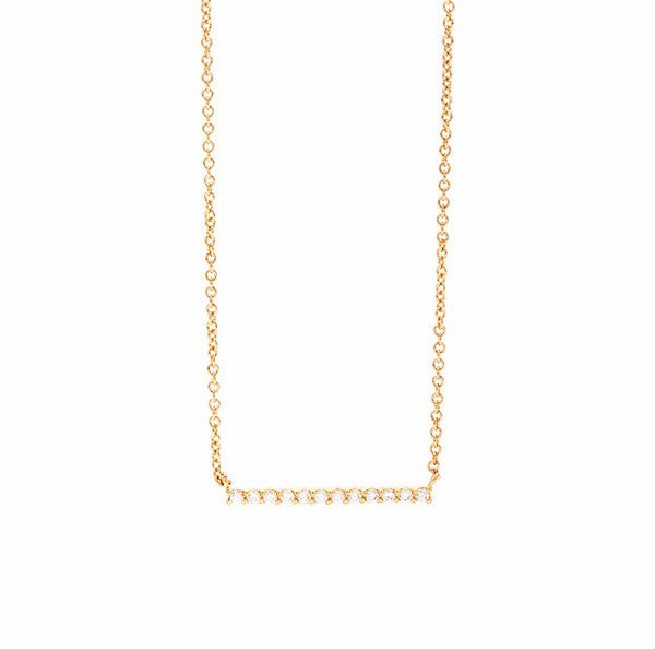 Knox Pave Bar Necklace - wish.list boutique