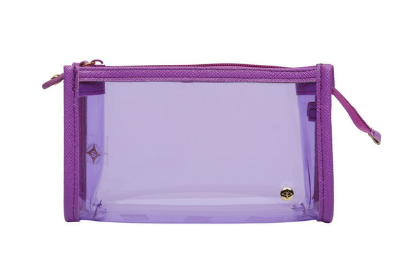 Small Zip Cosmetic Case - Miami Purple - wish.list boutique