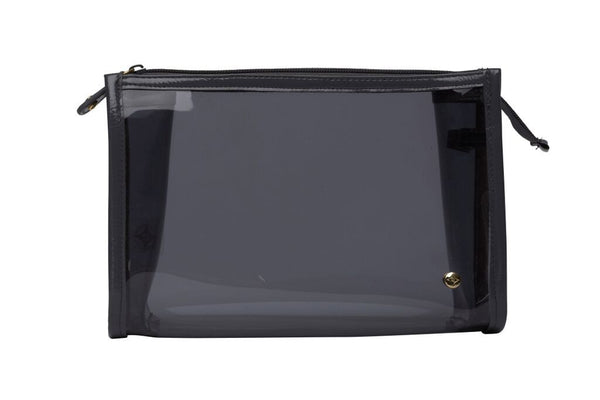 Medium Zip Cosmetic Case - Miami Charcoal - wish.list boutique