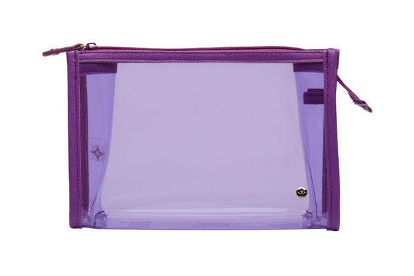 Medium Zip Cosmetic Case - Miami Purple