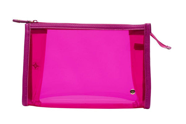 Medium Zip Cosmetic Case - Miami Berry - wish.list boutique