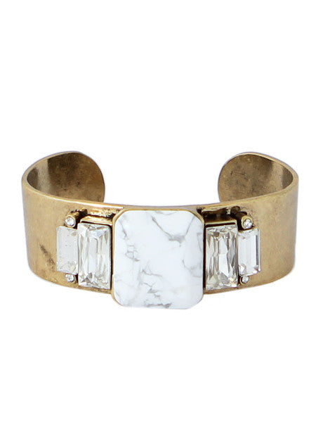 Brooklyn Howlite Cuff Bracelet - wish.list boutique