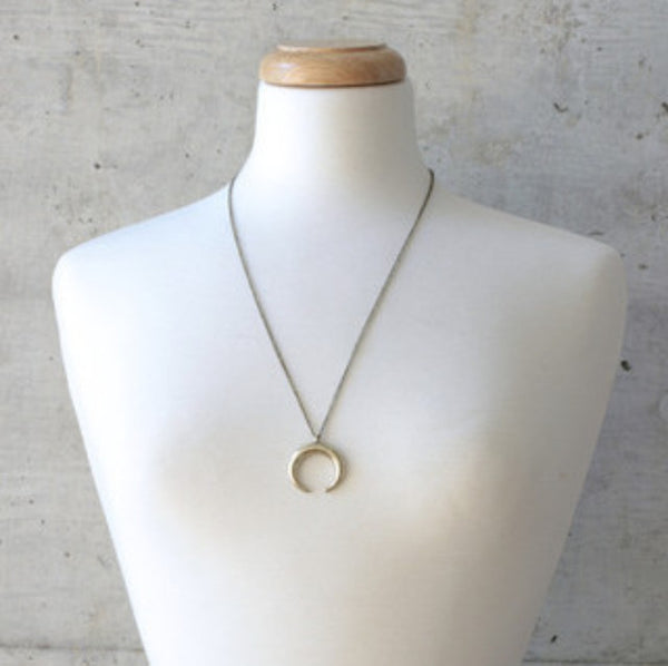 Antique Horn Necklace - wish.list boutique