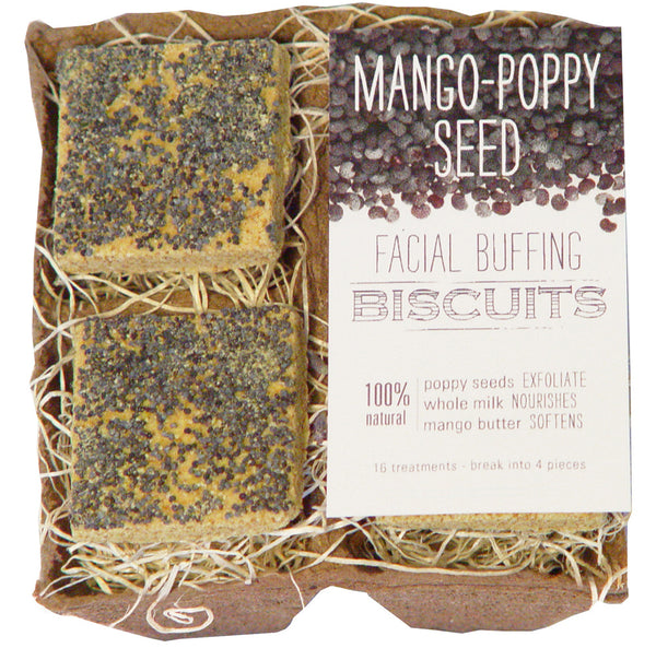 Mango-Poppy Seed Facial Buffing Biscuits - wish.list boutique