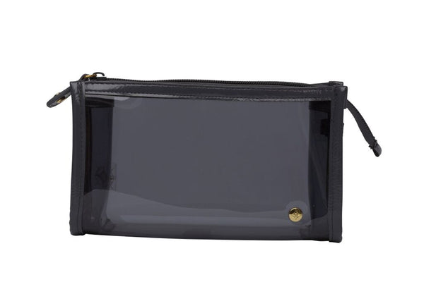 Small Zip Cosmetic Case - Miami Charcoal