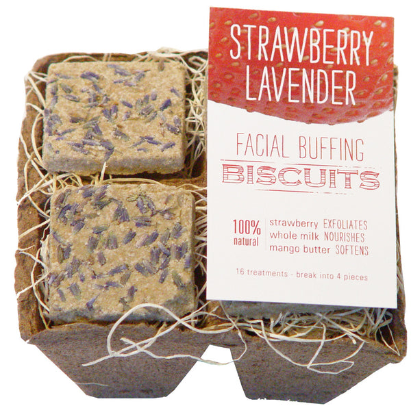 Strawberry Lavender Facial Buffing Biscuits