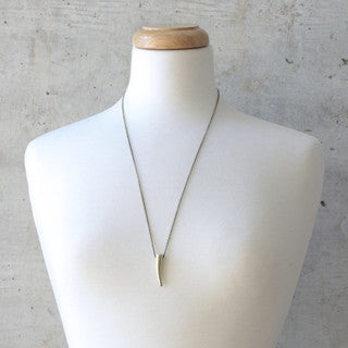 Gold Tusk Penant Necklace - wish.list boutique