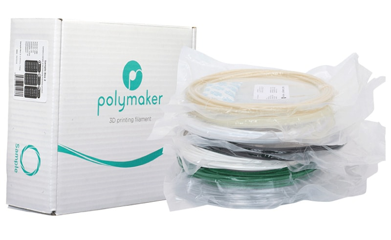 Polymaker | Sample Box 1 (PLA, PETG, TPU, Polywood, PolySmooth) - 3D FACTORY MX