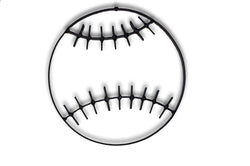 Baseball Metal Wall Decor