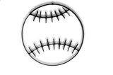 Metal baseball wall art and decor