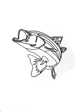 Bass Fish Metal Wall Decor