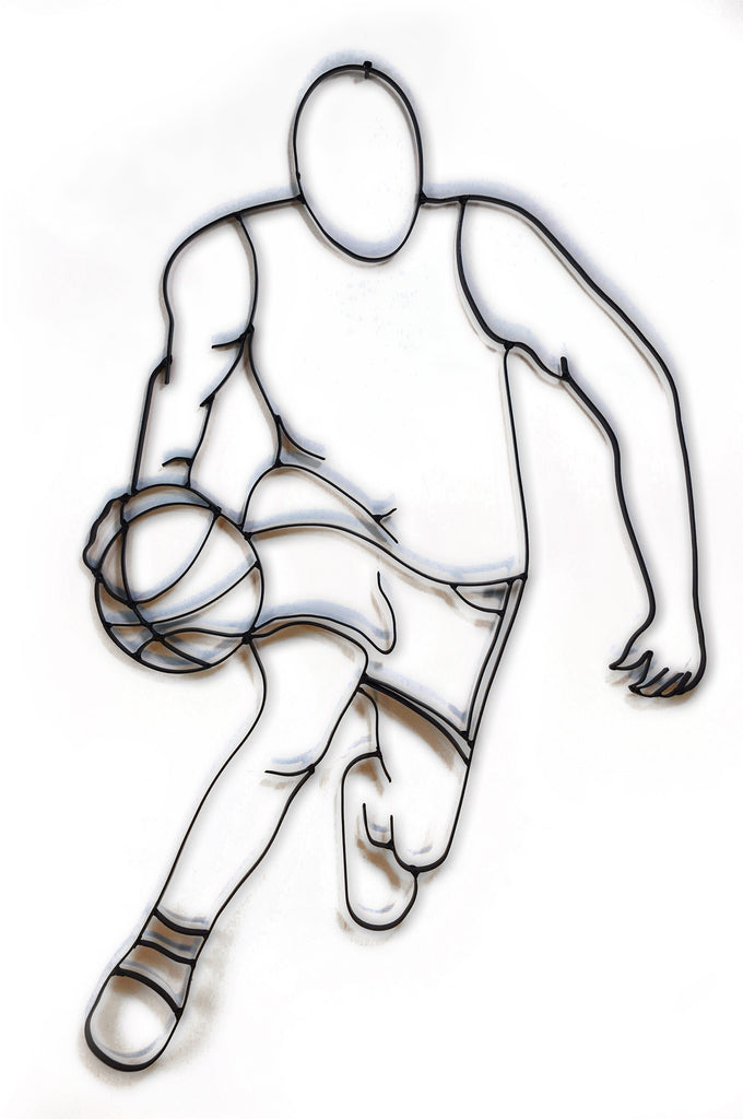 basketball player dribbling metal wall decor  u2013 all metal