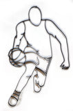 Basketball Player Dribbling Metal Wall Decor