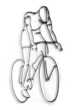 Bicyclist Metal Wall Decor and Sculpture
