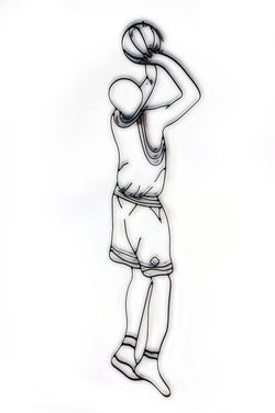 Basketball Player Metal Wall Decor