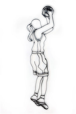 Female Basketball Player Metal Wall Decor