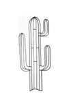 Cactus Metal Wall Decor