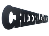 Cheerleader Word Metal Sign
