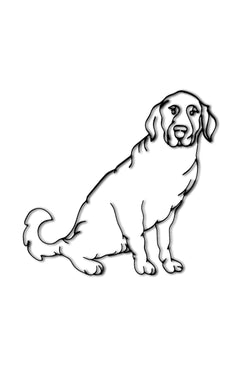 Front view of Dog or Lab metal wall art and decor