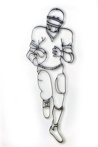 Football Player Running Back Metal Wall Decor