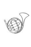Metal French Horn wall decor and sculpture
