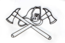Firefighter Symbol Metal Wall Decor
