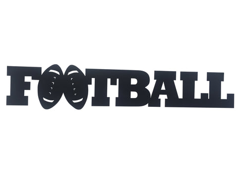 Football Word Metal Sign