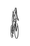 Side view of metal Bicyclist wall art and decor