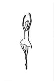 Side view of metal ballerina wall art and decor