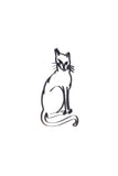 Side view of a Cat or Kitten metal wall art and decor