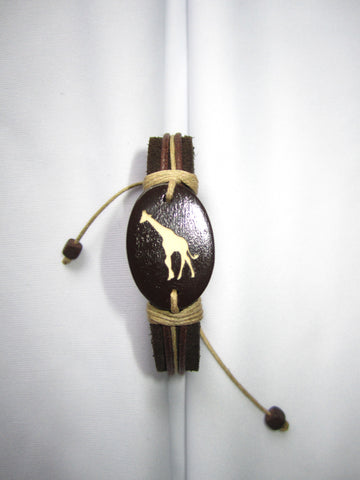Giraffe design Leather Bracelet
