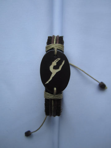 Dancer/Gymnastic Leather Bracelet