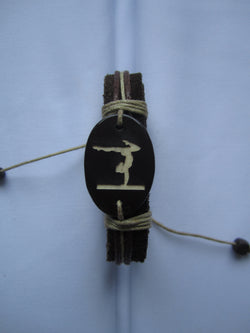 Gymnast Leather Bracelet