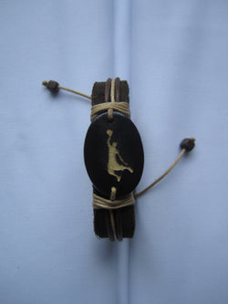 Basketball Player Leather Bracelet