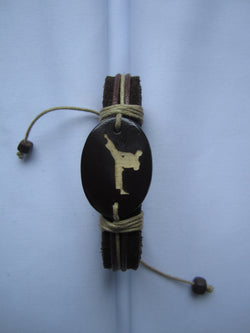 Martial Art Leather Bracelet