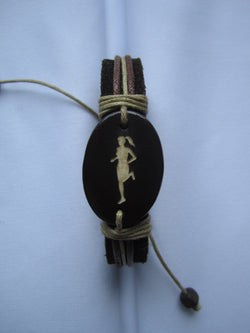 Female Runner Leather Bracelet