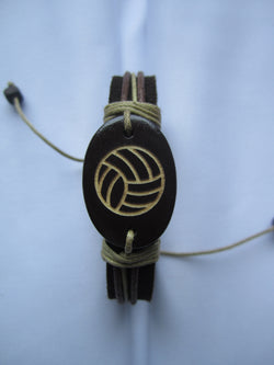 Volleyball Leather Bracelet
