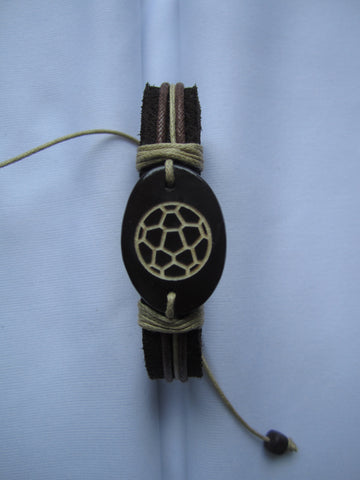 Soccer Ball Leather Bracelet