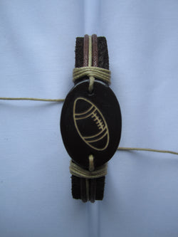 Football Leather Bracelet