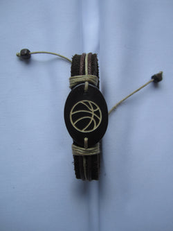 Basketball Leather Bracelet