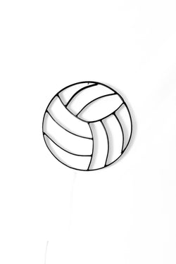 Metal volleyball wall art and decor