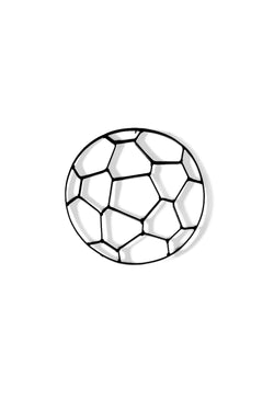 Soccer Ball Metal Wall Decor