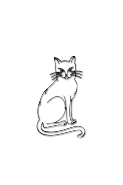 Front view of a Cat or Kitten metal wall art and decor