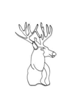 Deer Head Metal Wall Decor