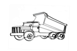 Metal Dump Truck Wall Art and Decor