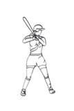 Softball Player Metal Wall Decor