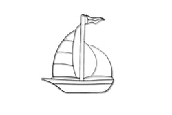 Sailboat Metal Wall Decor