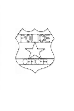 Police Symbol Metal Wall Decor