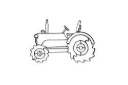 Farm Tractor Metal Wall Decor and Wall Sculpture