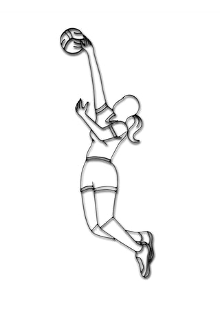 Volleyball Player Metal Wall Decor
